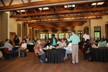 "LOGCOM employees attend ""The Totally Responsible Person"" workshop on 11 May 2016, held at Chehaw Park, Albany, GA. The workshop prepared individuals to deal with personal and collective problems in a unique way. Leadership Albany sponsored the event."