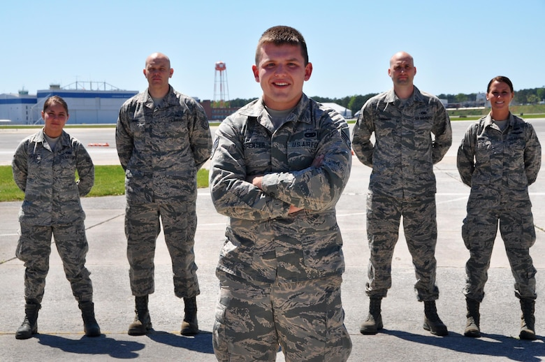 Senior Airman Daniel Carpenter, 80th Aerial Port Squadron air transportation journeyman, received the news of his acceptance into the USAFA, military academy for officer candidates for the U.S. Air Force April 2016. Carpenter plans to become a pilot.