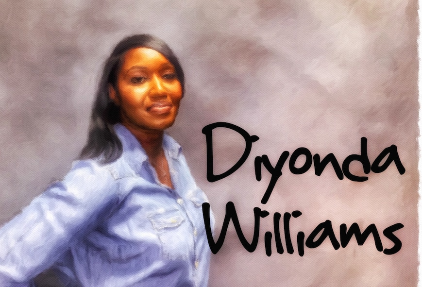 Getting to know you: Diyonda Williams(U.S. Air Force illustration by Claude Lazzara)