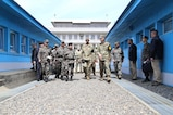 Gen. Vincent K. Brooks, United Nations Command, Combined Forces Command, and U.S. Forces Korea commander, tours the Joint Security Area during a visit to the DMZ, May 12. (U.S. Army Photo by Sgt. Russell Youmans, Command Photographer)