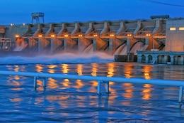 Ice Harbor Lock and Dam, located at Snake River Mile 9.7 near Burbank, Washington.