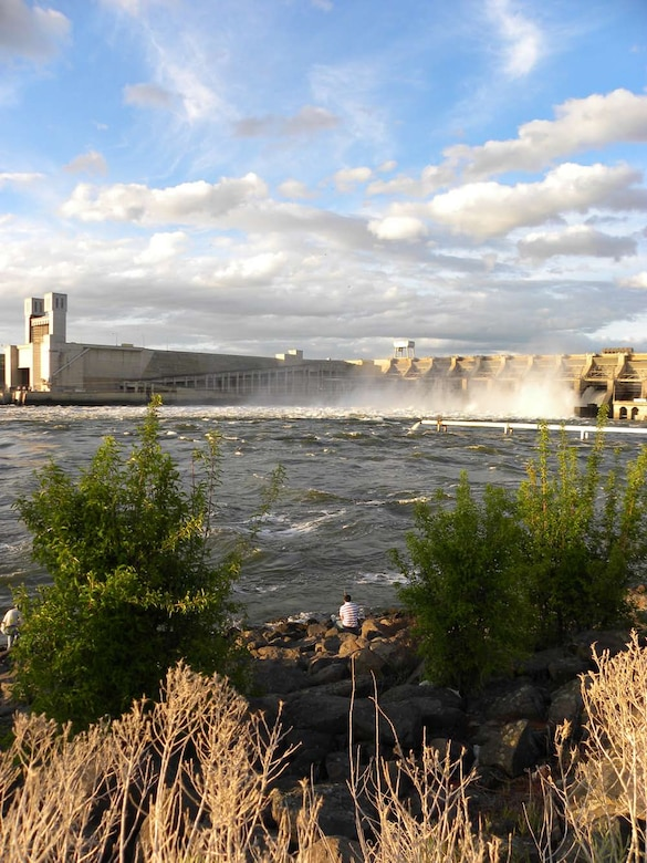 Ice Harbor Lock and Dam, located at Snake River Mile 9.7 near Burbank, Washington.