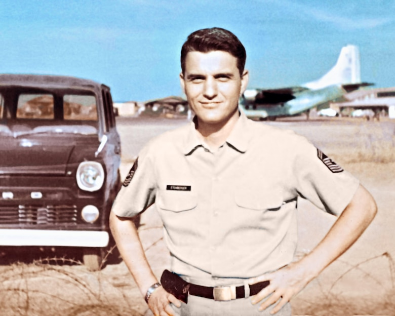 Medal of Honor recipient Chief Master Sgt. Richard L. Etchberger at Udorn Air Base, Thailand, shortly before his death in March 1968 during a battle at a secret U.S. radar site on a mountain peak in Laos. (Courtesy photo)