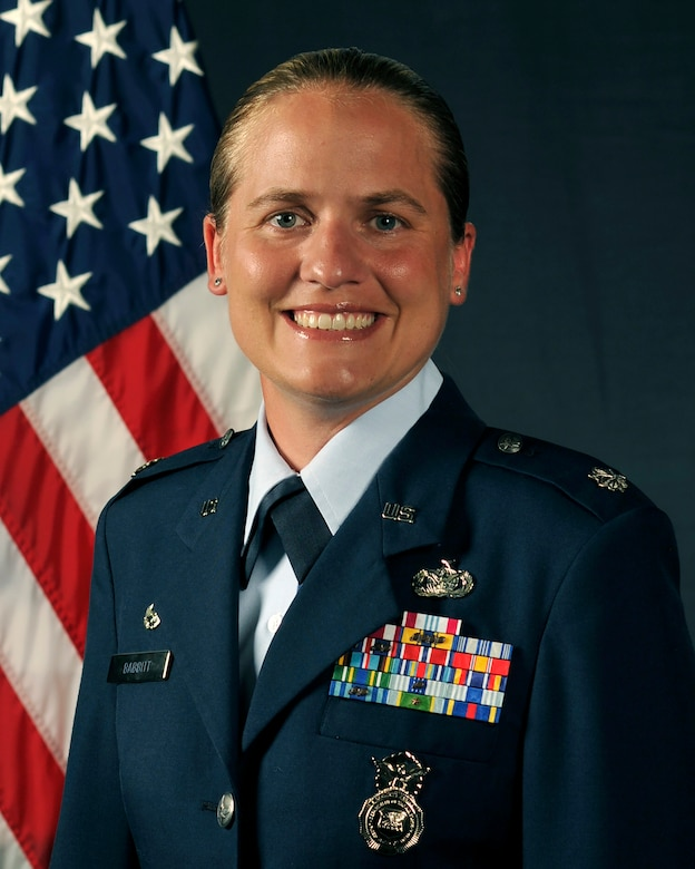 Lt. Col. Sarah Babbitt is the commander of the 18th Security Forces Squadron at Kadena Air Base, Japan. As the largest career field in the Air Force, it's the job of security forces to protect, defend and fight. (U.S. Air Force photo by Senior Airman John Linzmeier)