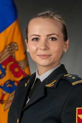 2nd Lt. Nadejda Mocan of the Moldovan army's 22nd Peacekeeping Battalion graduated May 13 from the Public Affairs Qualification Course at the Defense Information School on Fort Meade. She said the friends she made at DINFOS were as important as the subjects she studied.