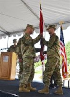 Lieutenant Colonel James Booth assumed command of the U.S. Army Corps of Engineers Albuquerque District, May 12, 2016, during a formal change of command ceremony at the District headquarters.