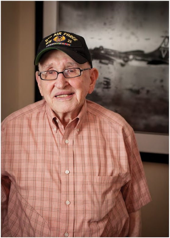 Colonel (Ret.) John B. Parker began his career in February 1942. Two years later he was navigating B-17s in Europe. He flew 30 combat missions over the next eight months, taking battle damage on every one. (Photo by Carol Anne Hartman)