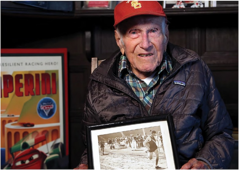 Captain (Sep.) Louis Zamperini was an Olympic distance runner, inspirational speaker and an Airman during World War II. (Photo by Matt Meindl)