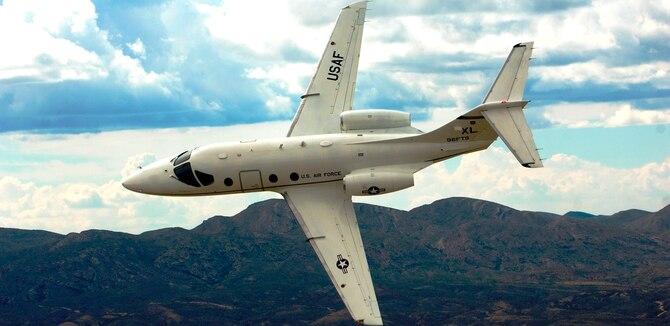 The T-1A Jayhawk, an advanced trainer for airlift and tanker pilots. (U.S. Air Force photo/Tech. Sgt. Matthew Hannen)