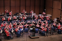 """On May 15, 2016, the Marine Band presented a concert titled """"Picture Studies"""" at the Rachel M. Schlesinger Concert Hall and Arts Center in Alexandria, Va. The program included David Conte's A Copland Portrait, Ottorino Resphigi's Huntingtower Ballad, Adam Schoenberg's Picture Studies, Joel Puckett's It perched for Vespers nine, and Dmitri Shostakovich's Suite from The Gadfly. (U.S. Marine Corps photo by Staff Sgt. Rachel Ghadiali/released)"""