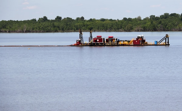 This electric dredge will remove more than 3 million cubic yards of sediment from John Redmond Reservoir in Kansas.