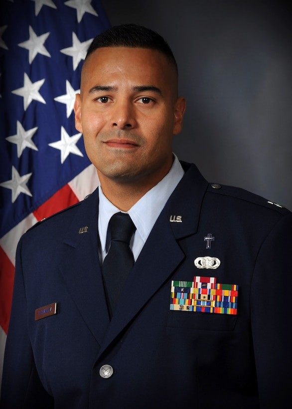 WRIGHT-PATTERSON AIR FORCE BASE, Ohio – Capt. Capt. Sonny Hernandez, 445th Airlift Wing chaplain, is the 445th Airlift Wing CGO of the Quarter, first quarter.