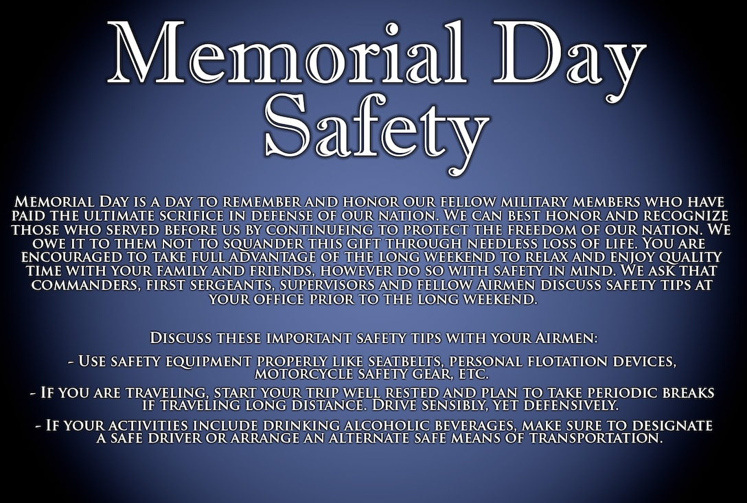 Memorial Day Safety