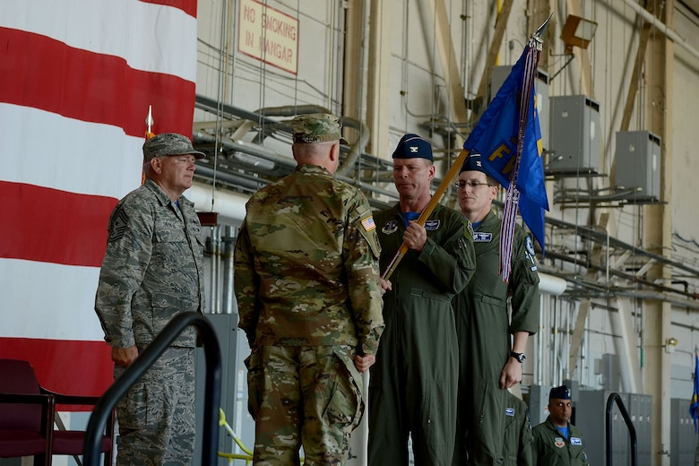 U.S. Airmen of the 169th Fighter Wing and the South Carolina Air National Guard, assemble for a change of command ceremony at McEntire Joint National Guard Base, S.C., May 14, 2016. Col. David Meyer relinquishes command of the 169th Fighter Wing to Col. Nicholas Gentile. (U.S. Air National Guard photo by Senior Airman Ashleigh S. Pavelek)