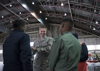 U.S. Air Force Chaplain (Capt) Philip Vincent, a 354th Fighter Wing chaplain, converses with members of the Indian Air Force, May 9, 2016, on Eielson Air Force Base, Alaska. Chaplains assigned to Eielson are charged with ensuring U.S. and partner nation servicemenbers maintain their spiritual fitness while in garrison. (U.S. Air Force Photo by 1Lt Elias Zani/Released)