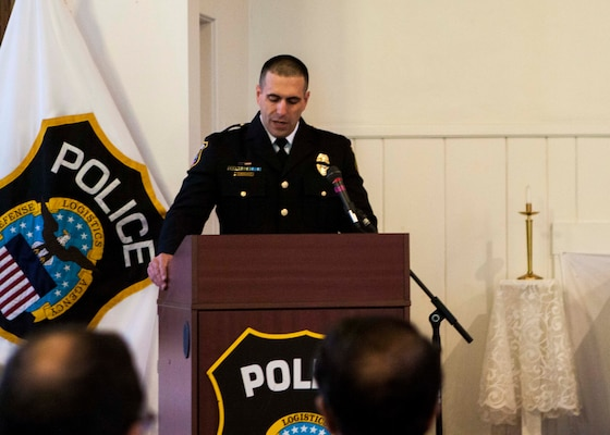 Distribution police chief Douglas Schraeder thanked everyone who gathered to show their respect for the men and women who have died in the line of duty nationwide at the National Police Week wreath laying ceremony on May 18.