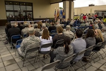 Members of the Spangdahlem community attend the new commissary grand opening ceremony May, 19, 2016, at Spangdahlem Air Base, Germany. Construction for the new commissary started February 2014 and cost $25.9 millon. (U.S. Air Force photo by Senior Airman Rusty Frank/Released)