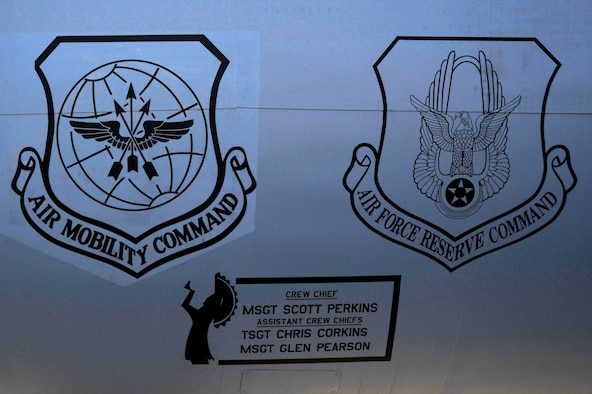 A dedicated crew chief box on a KC-135 Stratotanker May 16, 2016, at McConnell Air Force Base, Kan. The DCC boxes are part of the 22nd and 931st Aircraft Maintenance Squadrons' DCC program and feature the names of the DCC and assistant DCCs assigned to the aircraft. (U.S. Air Force photo/Airman 1st Class Jenna K. Caldwell)