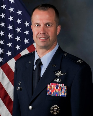 Official biography photo of Col. Ty Neuman, 2nd Bomb Wing commander, taken May 18, 2016, at Barksdale Air Force Base, LA. (U.S. Air Force photo/Senior Airman Amanda Morris)