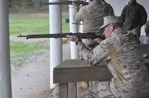 Lt. Gen. Walsh aims down range during the recreational shoot at WTBN.