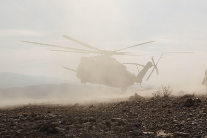 U.S. Marines with Marine Heavy Helicopter Squadron 461 (HMH-461) conduct external lifts extractions on High Mobility Multi-Purpose Vehicles(HMMWV) during Integrated Training Exercise (ITX) 3-16 at Marine Corps Air Ground Combat Center Twentynine Palms, Ca., May 13, 2016. 2nd Marines and subordinate units participated in ITX 3-16 to ensure all elements of Special-Purpose Marine Air Ground Task Force 2 are prepared for upcoming deployments and operational commitments.