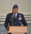 Maj. Gen. Richard Clark, 8th Air Force commander, introduces Col. Ty Neuman to the 2nd Bomb Wing during a change of command Ceremony at Barksdale Air Force Base, La., May 20, 2016. Clark, who oversees four bomb wings including the 2nd, presided over the transfer of command from Col. Kristin Goodwin to Neuman. (U.S. Air Force photo/Senior Airman Mozer O. Da Cunha)
