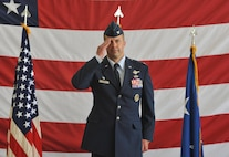 Col. Ty Neuman, 2nd Bomb Wing commander, renders his first salute to his new Airmen during a change of command ceremony at Barksdale Air Force Base, La., May 20, 2016. As commander, he will support 32 tenant units, including headquarters Air Force Global Strike Command, headquarters 8th Air Force and Air Force Reserve Command's 307th Bomb Wing. (U.S. Air Force photo/Senior Airman Joseph Raatz)