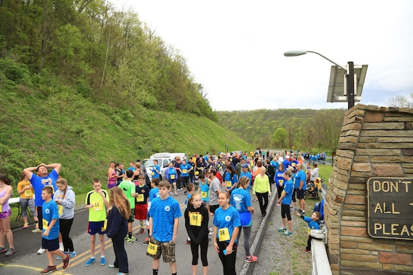 "Aging and Family Services of Mineral County hosted the 5th Annual ""Conquer the Dam"" 5K fundraising run/walk at Jennings Randolph Lake Project, May 10, 2016.  A record-setting 154 people participated in the event.  All proceeds go to Meals on Wheels of Mineral County, a non-profit organization that provides the elderly and individuals with diminished mobility nutritious meals, safety checks, and friendly visits."