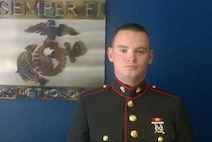 Private Brenden Jarvis, a recently graduated Marine, poses for a photo at his recruiting office in Lakewood, CO, May 20, 2016. Jarvis was born in Grand Junction, but grew up in Lakewood.