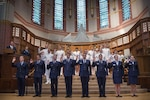 Defense Secretary Ash Carter administers the oath of office to Air Force and Naval ROTC students during a commissioning ceremony at Yale University in New Haven, Conn., May 23, 2016. DoD photo by Air Force Senior Master Sgt. Adrian Cadiz