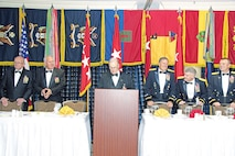 Former and current commanders from across the history of the 1st Infantry Division come together, April 30, during the 97th annual dinner of the officers of the First Division in Alexandria, Virginia.  This year's dinner was dedicated to the 25th anniversary of Operations Desert Shield and Desert Storm.
