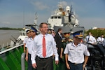 Defense Secretary Ash Carter tours a Vietnam coast guard ship in Hai Phong, Vietnam, May 31, 2015. On May 23, 2016, President Barack Obama announced the end of a ban on weapons sales to Vietnam. DoD photo by Glenn Fawcett