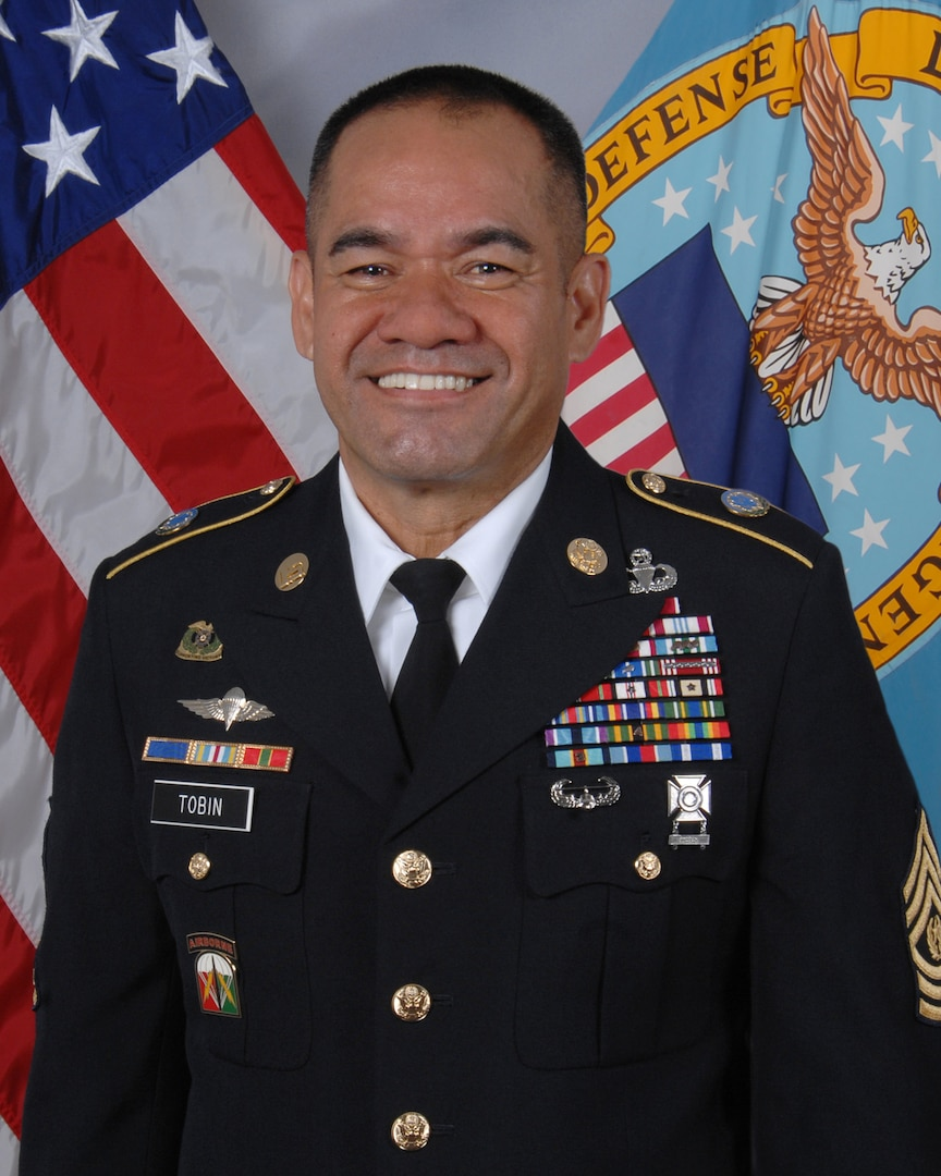 Army Command Sgt. Maj. Charles Tobin is DLA's senior enlisted advisor.