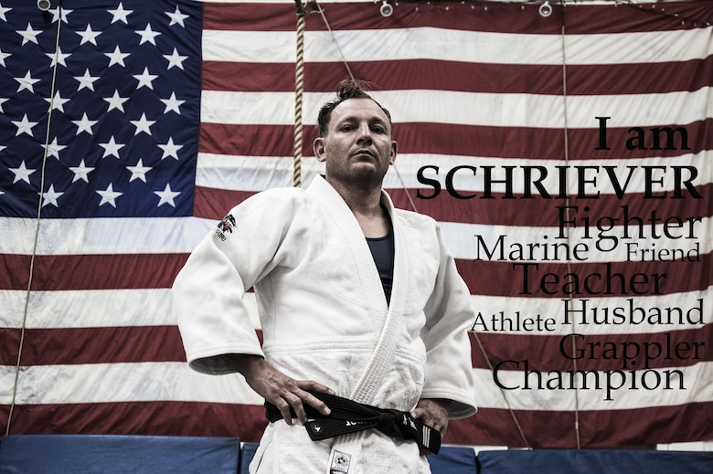 Chris Metzgar, 50th Space Communications Squadron and a 3rd degree black belt in judo, was ranked No. 1 nationally in USA Judo from 2008 to 2014. During that time, he also won multiple state, national and world championships in Brazilian jiu-jitsu. It was his love for the grappling sport that enabled him to establish his own training center where he trains children and adults. (U.S. Air Force photo illustration/Tech. Sgt. Julius Delos Reyes)