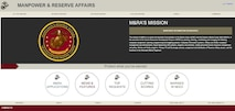 Manpower and Reserve Affairs has created a new design for their website to make it more user-friendly, putting thousands of pages of information at users' fingertips.
