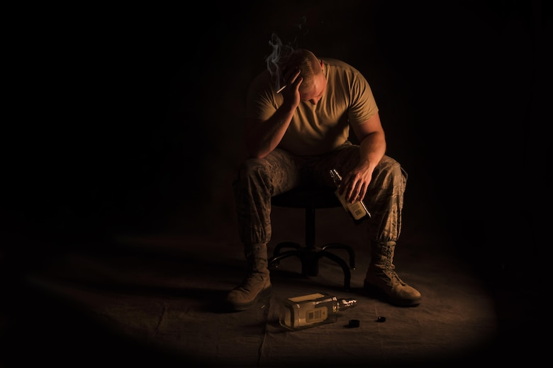 "There are many options available to Airmen who are going through a rough time. Seek out a chaplain, a Military Family Life Consultant at the Airman and Family Readiness Center or call the National Suicide Prevention Lifeline at 1 (800) 273-8255. ""Admitting to yourself that you need help is one of the most difficult but beneficial things you could do,"" said Airman 1st Class Alexander, a 49th Medical mental health technician at Holloman Air Force Base, N.M. ""Remember that suicide doesn't end the pain, it just passes it off to someone else."" (Last names are being withheld due to operational requirements. U.S. Air Force illustration by Senior Airman Aaron Montoya)"
