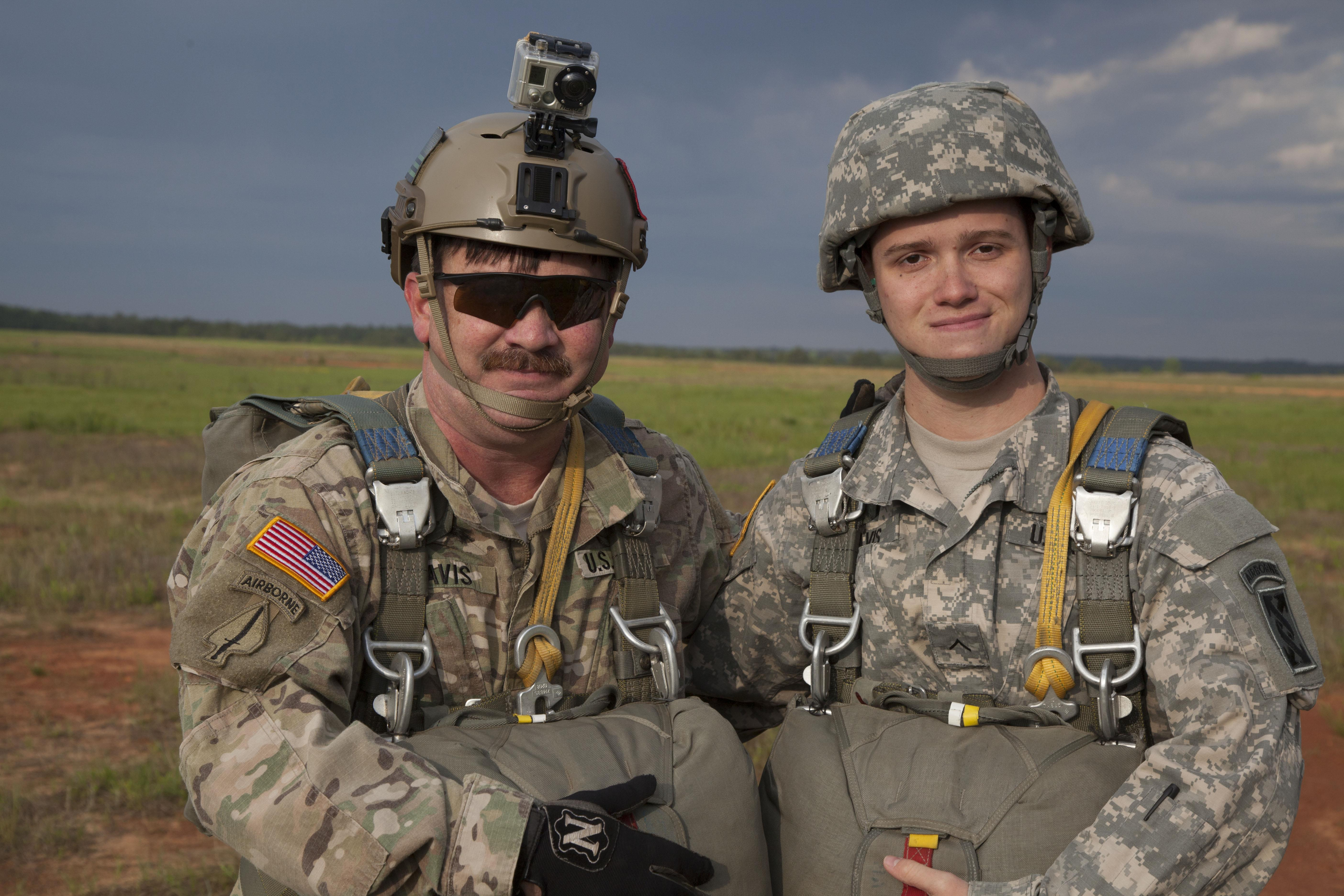 face of defense airborne service runs in army family