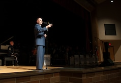 On a recent community relations tour with the Airmen of Note, 11th OG Commander, Colonel Jon Julian shared the Air Force message with the community prior to each performance