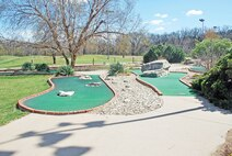 Mini golf course for kids and adults who are not as inclined to play the larger courses.