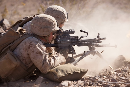 U.S. Marines with 3rd Battalion, 2nd Marine Regiment, Kilo Company conduct an urban live fire attack at range 230 during Integrated Training Exercise (ITX) 3-16 at Marine Corps Air Ground Combat Center Twentynine Palms, Ca. May 15, 2016. 2nd Marines and subordinate units participated in ITX 3-16 to ensure all elements of Special-Purpose Marine Air Ground Task Force 2 are prepared for upcoming deployments and operational commitments.