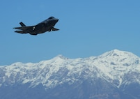 An F-35A Lightning II joint strike fighter takes off from Hill Air Force Base, Utah, March 14, 2014. After getting upgrades, the F-35A is on its way back to Nellis Air Force Base, Nev. Air Force photo by Airman 1st Class Joshua D. King