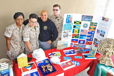 CAMP PENDLETON, Calif. -- Camp Pendleton hosts a Multi-Cultural Day to celebrate the contributions of the different cultures in the United States and the military at the Mainside Patio here, May 26. More than 40 Marines and civilians with Marine Corps Installations - West, 1st Marine Division, 1st Marine Logistics Group and I Marine Expeditionary Force set up booths and exhibits in order to foster a sense of unity among the diverse groups serving within the military.