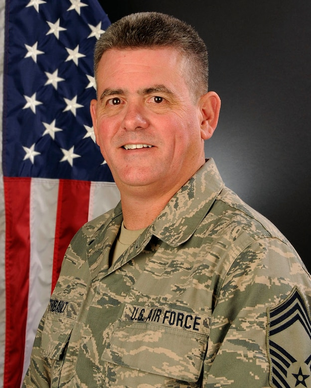 Portrait of U.S. Air Force Chief Master Sgt. Robert Thibault from the 169th Maintenance Group at McEntire Joint National Guard Base, South Carolina Air National Guard, July 12, 2014. (U.S. Air National Guard photo by Senior Master Sgt. Edward Snyder)