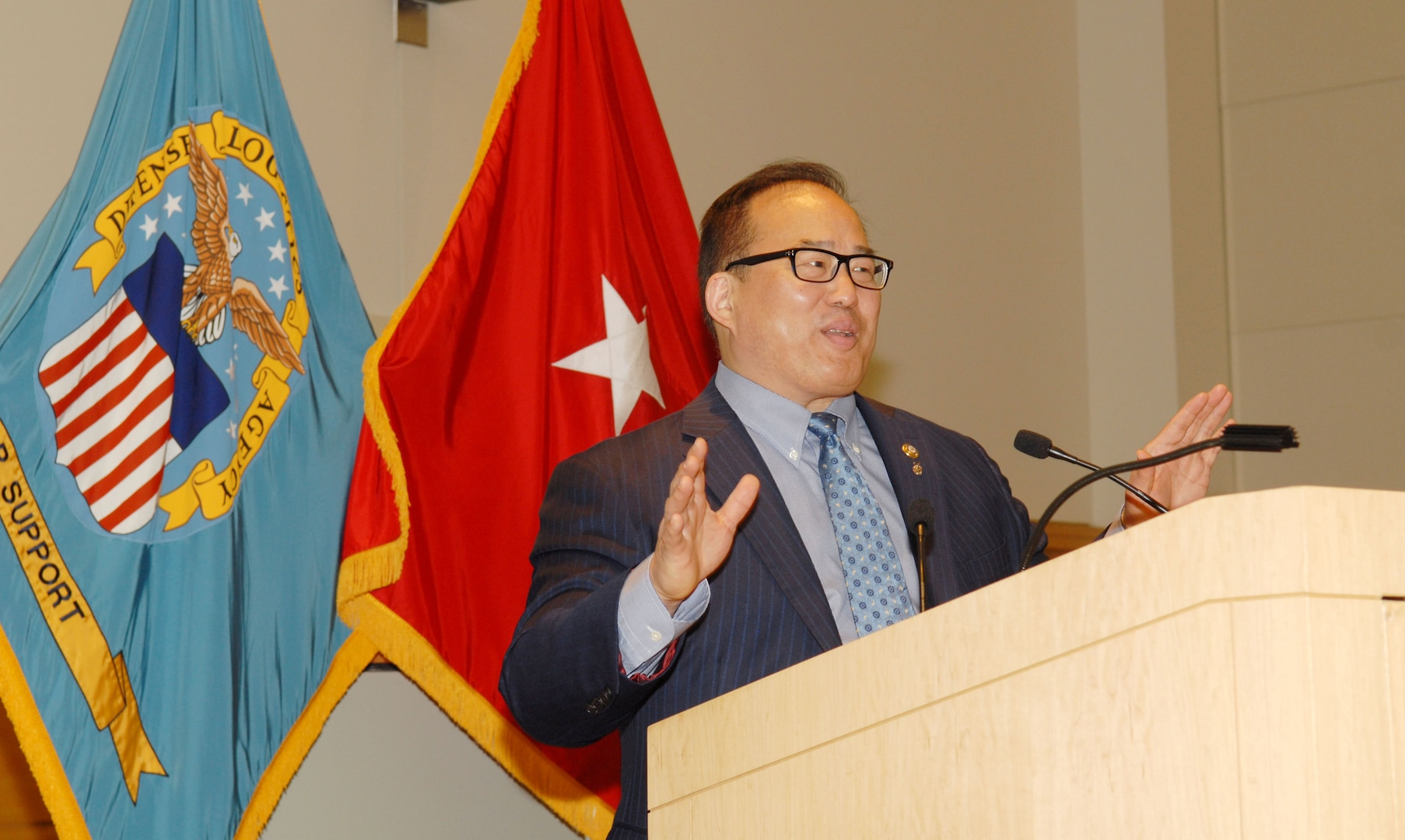 Philadelphia City Council member David Oh shared stories of his personal and family's history with Naval Support Activity Philadelphia employees during an Asian American Pacific Islander Heritage Month program May 25, 2016. Oh recanted details of his Korean relatives' migration to America from China and Japan, and the story of his cousin, In Ho Oh, a graduate student at the University of Pennsylvania who was murdered by a group of teenage boys in 1958.
