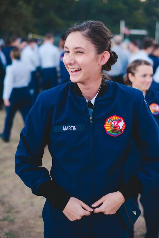 Cadet 2nd Class Emily Martin, 21, is the operations NCO for Cadet Squadron 09 at the U.S. Air Force Academy. She's a political science major at the Academy and will graduate in 2017. Martin is from Gilbert, Arizona. (U.S. Air Force photo)