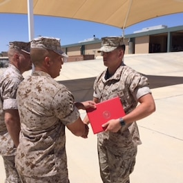 PFC Hoeflicker, Trenton R. TSPCRC class 2016060 is meritoriously promoted to LCpl. PFC Hoeflicker was number one over all out of a class of 10 students.