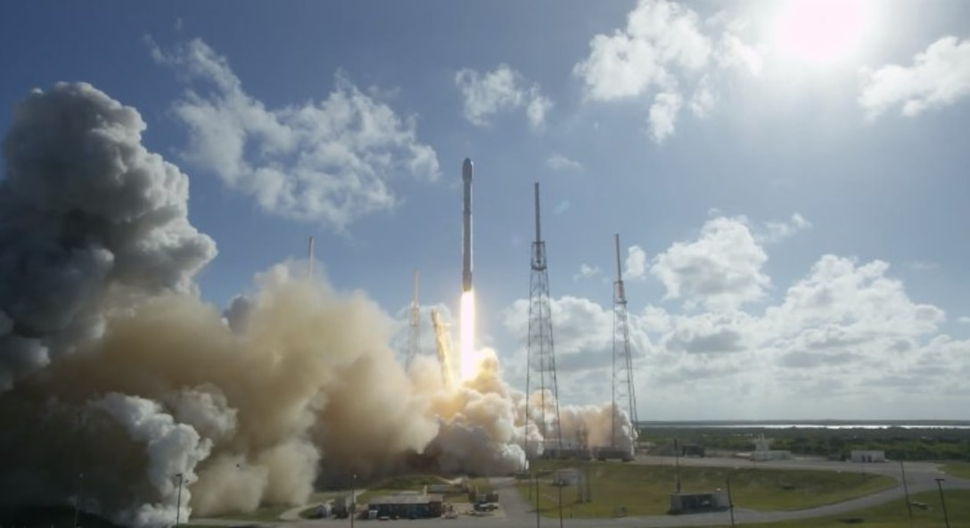 The U.S. Air Force's 45th Space Wing supported the successful SpaceX Falcon 9 THAICOM-8 launch May 27, 2016, at 5:39 p.m. ET from Launch Complex 40 at Cape Canaveral Air Force Station, Florida.
