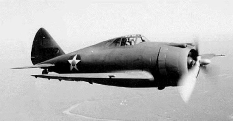 The Republic Aviation Corporation built the P-43 Lancer single-engine pursuit plane for the U.S. Army, which accepted the first examples in 1940.  It was the first fighter type aircraft to be based at Portland Air Base when the 55th Pursuit Group equipped with the type in the spring of 1941, with aircraft coming straight from the Republic production line.  (U.S. Air Force photo)