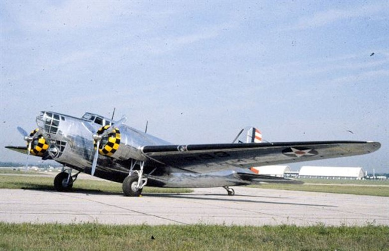 The Douglas Aircraft Company developed the B-18 to replace the Martin B-10 as the U.S. Army Air Corps' standard bomber. It was also used as a transport/support aircraft as the more capable B-17 Flying Fortress came into service.  Portland Army Air Base received a single example in 1941.  This Douglas B-18 Bolo is at the National Museum of the United States Air Force in Dayton, Ohio, painted as a B-18A serving with the 38th Reconnaissance Squadron in 1939.  (U.S. Air Force photo)