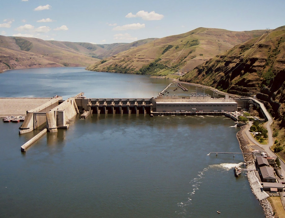 Lower Granite Lock and Dam on the Snake River. US Army Corps of Engineers photo.